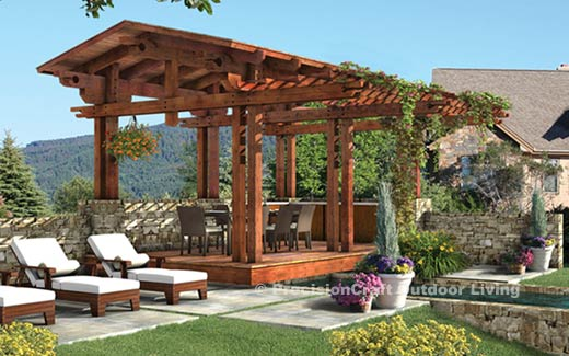 Outdoor Pergola Plans – How to Build an Outdoor Pergola With the ...