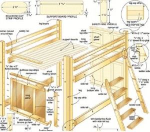 Bed Plans for Bunk Beds, Loft Beds, Murphy Beds | Cool Woodworking ...