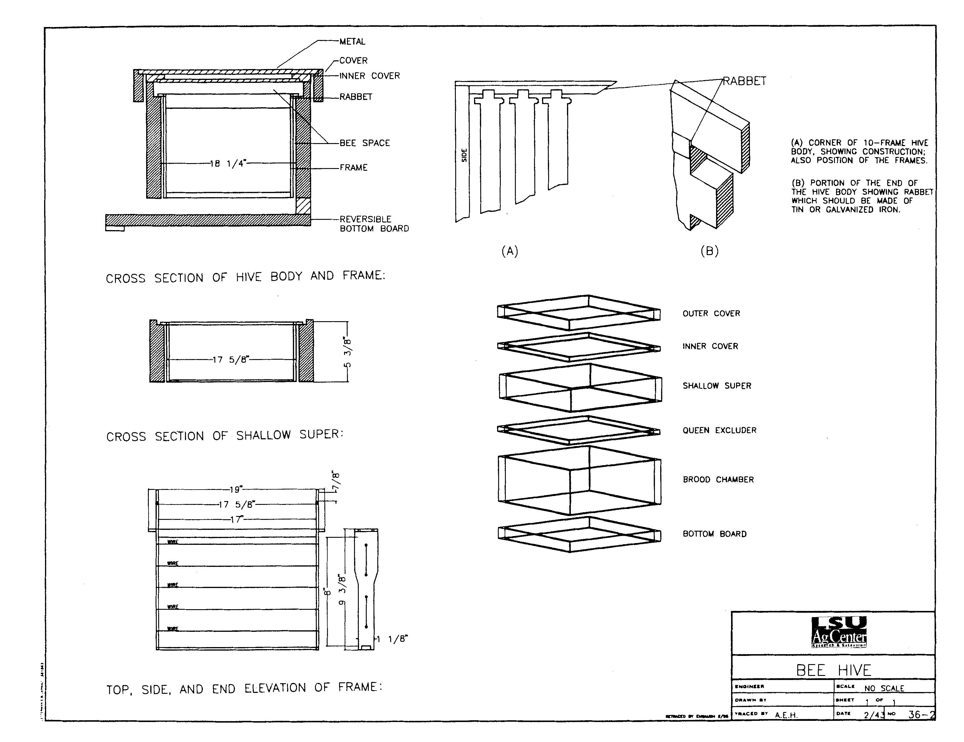 Plans To Construct A Simple Bee Hive Cool Woodworking Plans