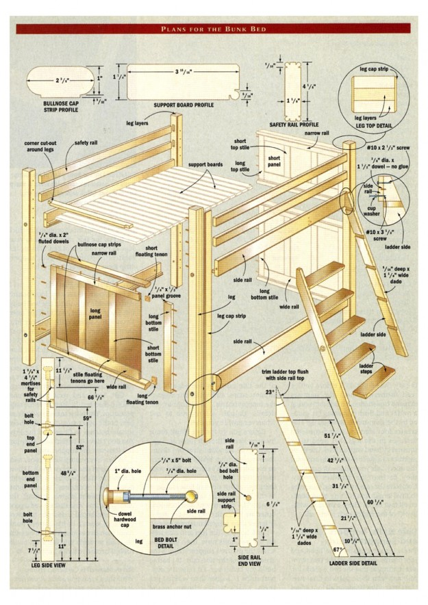 Bunk-bed-woodworking-plans-2