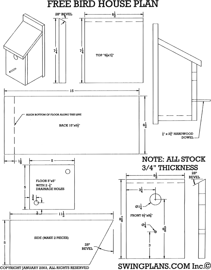 birdhouse-woodworking-plans