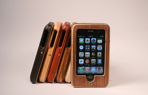 wood ipod case