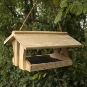 wooden bird feeder