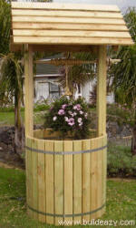 full size wishing well plans provide a place for a planter